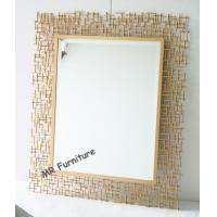 Rectangular Metal Mirror Wall Decor 70 * 95cm Size Quickly Delivery Manufactures