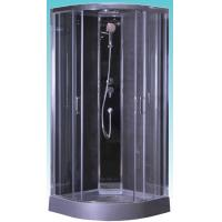 Quality Quadrant Shower Cubicles 900 X 900 X 2100 MM Circle Grey ABS Tray Chrome for sale