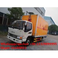 JAC 4*2 LHD 5tons domestic gas canister transported van truck for sale, best price JAC inflammable gas transport vehicle Manufactures