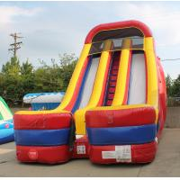 Outdoor Fashion Inflatable Toy Inflatable Water Slide With Swimming Pool For Children Manufactures
