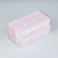Disposable Individually Packaged 3 Layers Pink Face Masks In Stock Manufactures