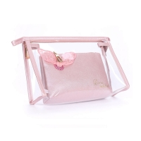 Eco Friendly Waterproof PVC Transparent Makeup Washing Bags for Travel Manufactures