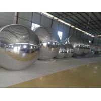 0.3MM PVC 2 M Silvery Inflatable Disco Mirror Ball / Advertising Air Balloons For Event Manufactures