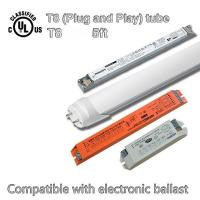 G13 5ft Dimmable T8 Led Tube, DLC / TUV Certificated Led Fluorescent Light Tubes Manufactures