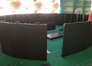 Indoor 500X1000mm P3.91 Round Flexible LED Stage Backdrop Screen Manufactures