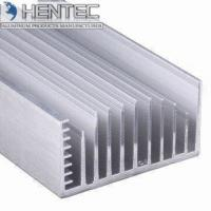 Cars 6005 Extruded Aluminum Heatsink Customized Shape PVDF Finishing Manufactures