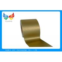Golden Vacuum Metallic Wrapping Paper 83 GSM , Aluminum Foil Surface Material