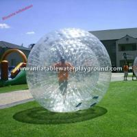 Quality Clear 0.7mm TPU Inflatable Aqua Zorb Ball Inflatable Hamster Balls For Humans for sale
