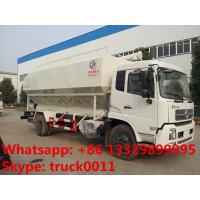 dongfeng tianjin10tons livestock and poultry transportation feed tank for sale, best price farm-oriented bulk feed truck Manufactures