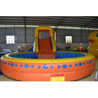 Quality Funny Multifunction Inflatable Sports Games Orange Slide Pool Fireproof for sale