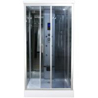 Claasic Steam Shower Whirlpool Bath Combination , Square Bathtub Steam Shower Combo Manufactures