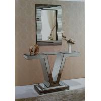 Unique V Style Narrow Mirrored Console TableWith Match Wall Mirror Manufactures