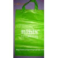Recyclable 0.15mm HDPE Soft Loop Handle Bag / Plastic Shopping Bags Manufactures