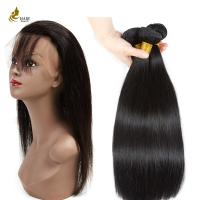 Buy cheap 8 - 32 Inches Ladys Hair Extensions Straight Hair Weft With 360 Lace Closure from wholesalers