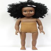 Buy cheap 18 Inches  vinyl African American dolls with half  colth body from wholesalers