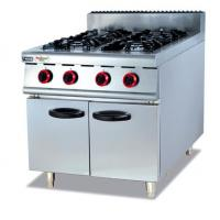 Silvery White 4 Burners Gas Cooking Stoves With Storage Cabinet 12 Months Guarantee Manufactures