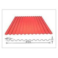 YX836 Anti corrosion 0.6mm thickness 850mm width red Color coated corrugated iron steel sheet for Wall Manufactures