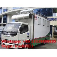 Quality 4x2 diesel 120hp mobile chinese food truck, dongfeng 4*2 LHD mobile kitchen vehicle, hot sale fast food truck for sale for sale