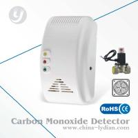 CE Semiconductor Gas Detector Alarm Sound / Flash Alarm With Shut-off Valve, Fan Manufactures