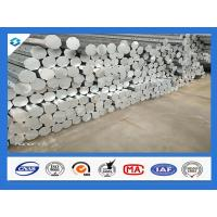 Quality 35FT 3mm Thick Q345 Galvanized Metal Pole Electric Steel Poles 500KGF Load for sale