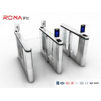 Pedestrian Management Automated Gate Systems SUS304 Materials Speed Gate Turntiles Face Recogntion Manufactures