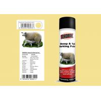 Tag / Tail Sheep Marking Paint Grain Yellow Color With 3 Years ShelfTime Manufactures