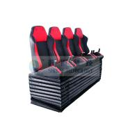 Dynamic Cinema Seat / Movie Theater Chairs With Push Back , Electrical Vibration Manufactures