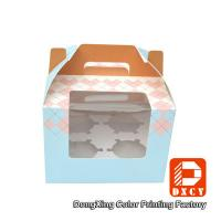 250 Grams Ivory Board Paper Food Boxes Single Cupcake Boxes With Window Manufactures