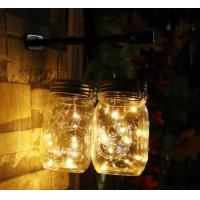 Eco Friendly Solar Mason Jar Lid Insert Light , 10 LED Warm White Solar Fairy Lights Manufactures
