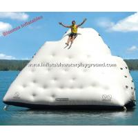 Quality Water Sports Toys Inflatable Iceberg Floating Climbing Wall For Adults for sale
