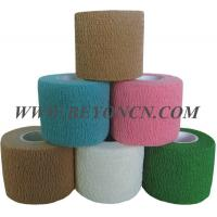 Hand Tear Self - adhesive Cotton Elastic Bandage To Control Varicose Veins Manufactures