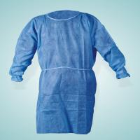 Quality Nonwoven SMS / PP + PE Disposable Medical Gowns / Surgical Isolation Patient for sale