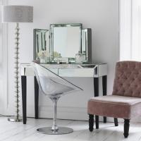 Old Style Mirror Furniture Set Mirrored Vanty Table With Desk Folding Mirror Manufactures