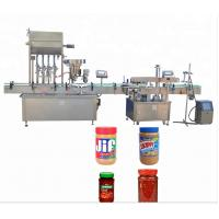 Color Touch Screen Bottle Capping Machine For Capping Semi - Liquid Products Manufactures