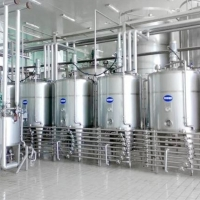 200TPD Sterilization  Uht Dairy Product Machine ForFresh Cow Milk Manufactures