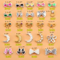Hot NEW Wholesale Alloy Jewelry 3D Nail Art Jewelry Nail rhinestones Sticker Supplier Number ML2418-2441 Manufactures