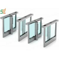 Stainless Steel Automatic Turnstiles Swing Doors , Wing Style Optical Turnstile Barrier Manufactures