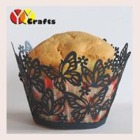 China Laser Cut Butterfly Cupcake Wrappers Wedding Party Cup Cake Liners on sale