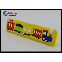 Big Train Colorful Rubber Drawer Pulls Cartoon Knobs 32mm Soft Plastic Kids Bedroom Furniture Handles Manufactures
