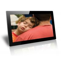 Black 18.5 Inch Baby / Friends Wall Mounted Digital Photo Frame Supports SD / MMC Cards Manufactures