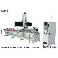Single Arm 4 Axis CNC Router Machine For Caring Drilling Holes On Square Cylinder Manufactures