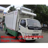Quality 4x2 diesel 120hp mobile chinese food truck, dongfeng 4*2 LHD mobile kitchen for sale