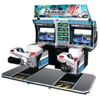 China 32 LCD Car Racing Arcade Machine GP Motor For Double Players on sale