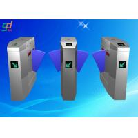 Card Reader Flap Barrier Gate Automatic Turnstiles Retractable Turnstyle Gates Manufactures