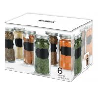 6 pieces lovely spice jars with chalkboard for your kitchen,colorful your life Manufactures