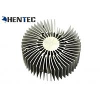 Durable Silvery Anodized Aluminum Heatsink Extrusion Profiles For Led Light Manufactures
