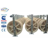 Nylon Wheel Wire Pulling Blocks , 3 Sheave Galvanized Steel Wire Pulling Pulley Manufactures