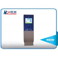 Touch screen lobby dual screen free standing kiosk with A4 Printer Manufactures