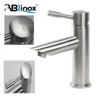 China Precision Lost Wax Casting Stainless Steel Faucet Basin Tap Satin Finish For Bathroom on sale