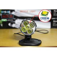 5600 Lumen 50W Cree LED Bicycle headlights , Ultra - clear tempered glass Lens Manufactures